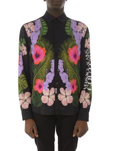 Versace Jeans Couture - Hawaii print shirt in black