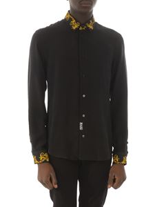 Versace Jeans Couture - Baroque print shirt in black
