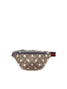 Gucci - GG pattern and beige stars belt bag