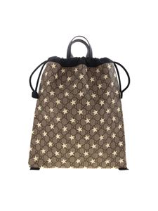 Gucci - GG Supreme beige backpack with stars print