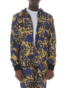 Versace Jeans Couture - Giubbotto Sprous Baroque blu