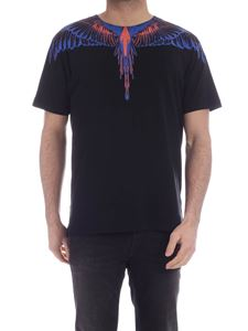 Marcelo Burlon County Of Milan - Wings Basic T-shirt black blue and red