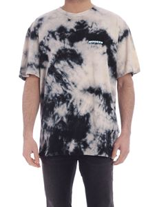 Off-White - Tie dye T-shirt in beige and black