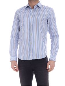 Paul Smith - Multicolor stripes shirt in light blue