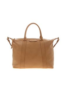 Lancaster Paris - Golden details shoulder bag in nude color