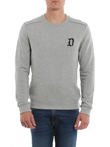 Dondup - D logo embroidery sweatshirt in grey