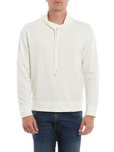 Dondup - Drawstring collar sweatshirt in white