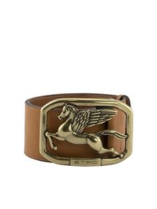 Etro - Pegaso buckle leather belt