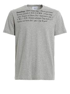 Dondup - Printed lettering T-shirt in grey