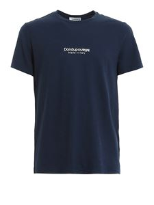 Dondup - Logo slubbed cotton T-shirt in blue