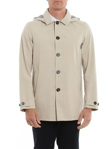 Save the duck - Recycled technical fabric trench coat in beige