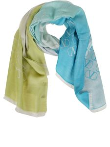 Valentino - Vlogo scarf in light blue
