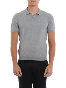 Tagliatore - Phil cotton short sleeve polo in grey