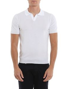 Tagliatore - Phil cotton short sleeve polo in white
