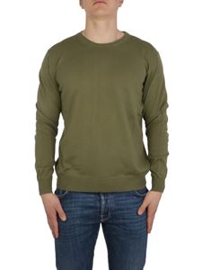 Altea - Linen and cotton pullover in green