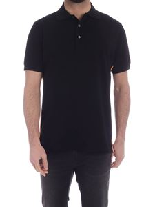 Paul Smith - Plain Stripe bands polo shirt in black