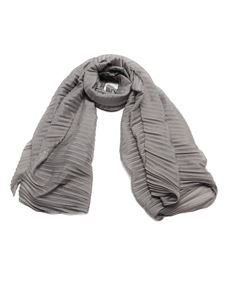 Emporio Armani - Pleated foulard in grey