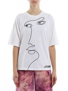 Moschino - Cornely embroidery T-shirt in white