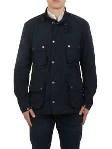 Barbour - Tech fabric multipocket jacket in blue