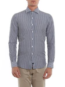 Fay - Striped cotton and linen shirt