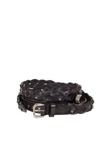 Philosophy di Lorenzo Serafini - Studded leather triple belt