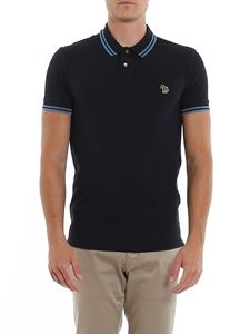 Paul Smith - Striped edges polo shirt in blue
