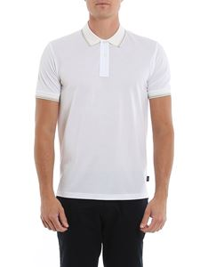 Paul Smith - Multicolor striped details polo shirt in white