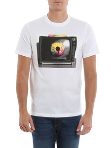 Paul Smith - Tv Eye print jersey T-shirt in white