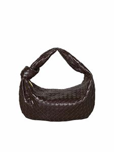 Bottega Veneta - BV Jodie handbag with braided motif in brown