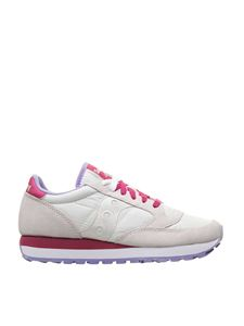 Saucony - Jazz Original 570 sneakers in white and purple