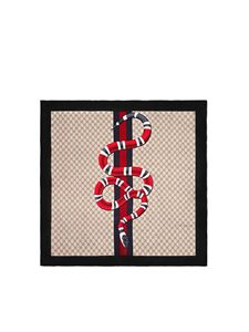 Gucci - Scarf with snake print in beige