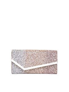 Jimmy Choo - Glittered Emmie clutch in gold and pink