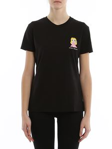 Chiara Ferragni - Embroidered logo t-shirt in black