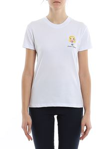 Chiara Ferragni - Embroidered logo t-shirt in white