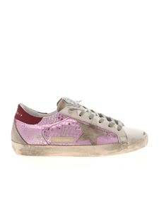 Golden Goose - Crocodile print Superstar sneakers in lilac