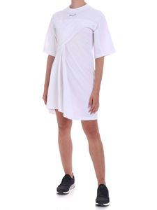 Palm Angels - Logo oversize dress in white