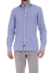 Fay - Blue and white striped shirt