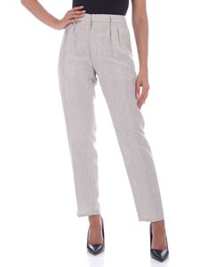 Dondup - Stevie pants in ivory and melange grey