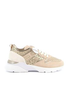 Hogan - Sneakers Active One beige e oro