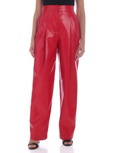 Philosophy di Lorenzo Serafini - Synthetic leather high waist pants in red