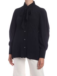 Department 5 - Loose fit Lady crepe shirt in black