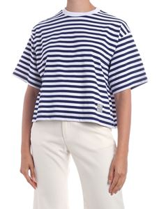 Department 5 - Andres T-shirt with white and blue stripes