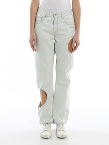 Off-White - Cut out details jeans in light blue