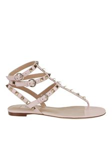 Valentino - Rockstud thong sandals in pink
