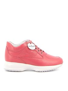 Hogan - Interactive drilled H pink sneakers