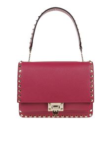 Valentino - Rockstud shoulder bag in fuchsia