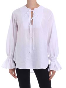 Fay - Puffed sleeve blouse in white