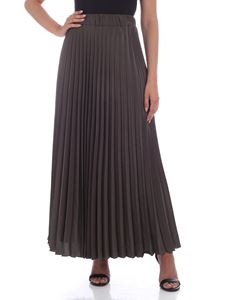 Parosh - Pleated skirt in Army green