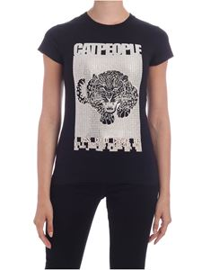 Parosh - Catpeople T-shirt in black