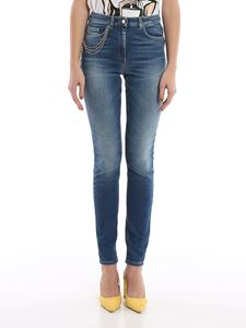 Elisabetta Franchi - Skinny jeans in blue with charms